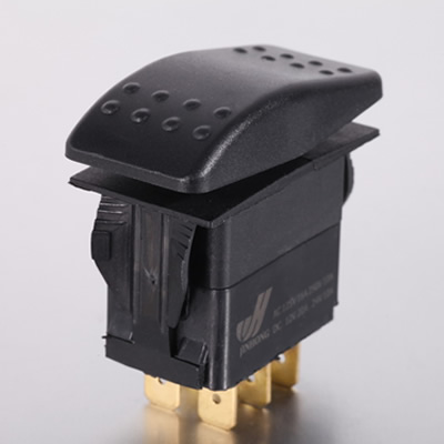 A sealed rocker switch