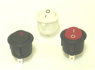 RL3-5 Round Rocker switch